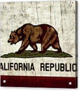 Rustic California State Flag Design Acrylic Print