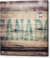 Rustic Canada Acrylic Print