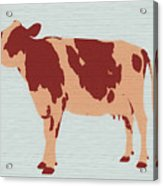Rustic Cow Acrylic Print