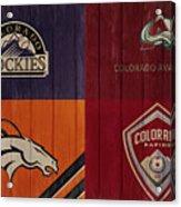 Rustic Denver Sports Teams Acrylic Print