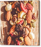 Rustic Dried Fruit And Nut Mix Acrylic Print