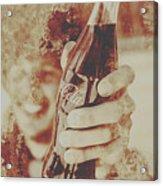 Rustic Drinks Advertising  Acrylic Print