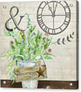 Rustic Farmhouse Our Happy Place Acrylic Print