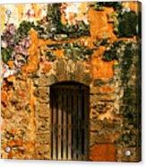 Rustic Fort Door Acrylic Print