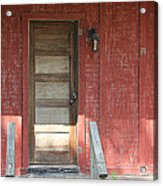 Rustic In Red Acrylic Print