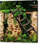 Rustic Ladder Acrylic Print