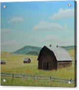 Rustic Montana Barn Acrylic Print