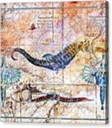 Rustic Seahorse Acrylic Print