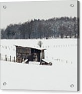 Rustic Shed In The Winter Acrylic Print
