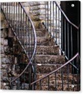 Rustic Staircase Acrylic Print