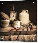 Rustic Table Setting Still Life Acrylic Print