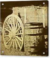 Rustic Wagon And Barrel Acrylic Print