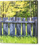 Rustic Wooden Fence At Old World Wisconsin Acrylic Print