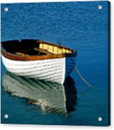 Rustic Wooden Row Boat. Acrylic Print