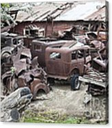 Rusting Antique Cars Acrylic Print