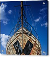 Rusting Boat Acrylic Print by Stelios Kleanthous