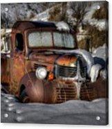 Rusting In Winter Acrylic Print