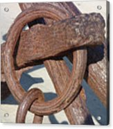 Rusty Anchor Chain Acrylic Print