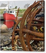 Rusty Anchors Acrylic Print