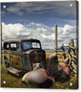 Rusty Auto Wreck Out West Acrylic Print