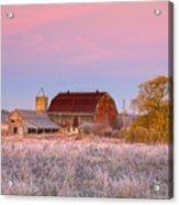 Rusty Barn At Dawn Acrylic Print