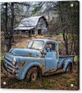 Rusty Blue Dodge Acrylic Print