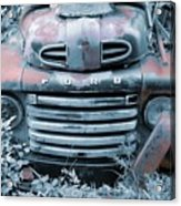 Rusty Blue Ford Acrylic Print by Jame Hayes