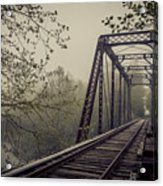 Rusty Bridge Acrylic Print by William Schmid