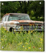 Rusty But Still Standing In Texas Acrylic Print