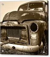 Rusty But Trusty Old Gmc Pickup Acrylic Print by Gordon Dean II