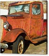 Rusty Chevrolet Pickup Truck 1934 Acrylic Print by Douglas Barnett