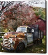 Rusty Chevy Pickup Truck Acrylic Print