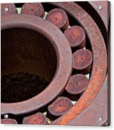 Rusty Circles Acrylic Print