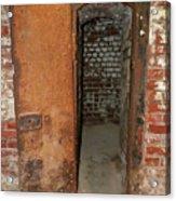Rusty Door At Ohio Prison Acrylic Print
