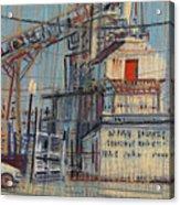 Rusty Door Acrylic Print by Donald Maier