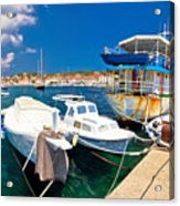 Rusty Fishing Boat In Sali Harbor Acrylic Print