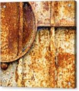 Rusty Gate Detail Acrylic Print