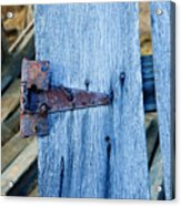 Rusty Hinge In The Blue Of The Evening Acrylic Print
