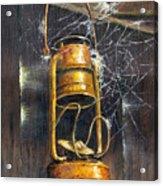Rusty Lantern Acrylic Print by Bob Hallmark