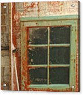 Rusty Lighthouse Window Acrylic Print