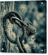 Rusty Lock And Chain Acrylic Print