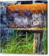 Rusty Mailbox Acrylic Print