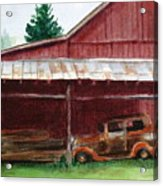 Rusty Ole Car Acrylic Print