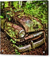 Rusty Plymouth Acrylic Print