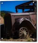 Rusty Postcard Acrylic Print