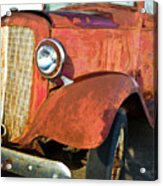 Rusty Red Chevrolet Pickup Truck 1934 Acrylic Print