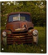 Rusty Red Chevy Acrylic Print