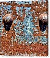 Rusty Rivets Acrylic Print