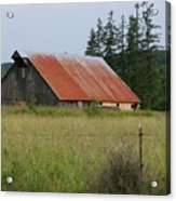 Rusty Roofed Barn    Washington State Acrylic Print