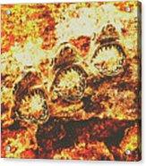 Rusty Shark Scene Acrylic Print